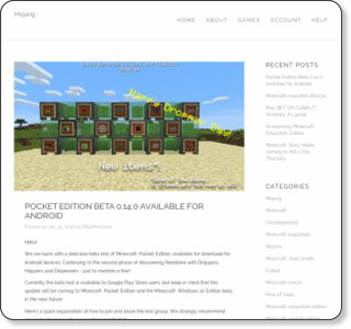 Pocket Edition Beta 0.14.0 available for Android