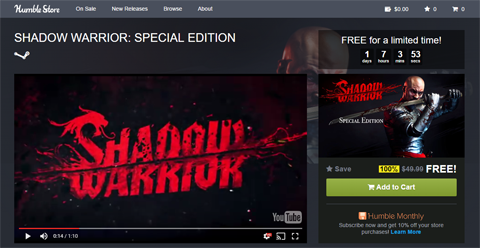 Shadow Warrior: Special Edition 無料