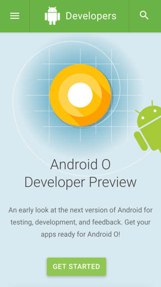 Android O DP リリース