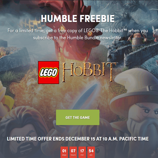 LEGO The Hobbit 無料配布中