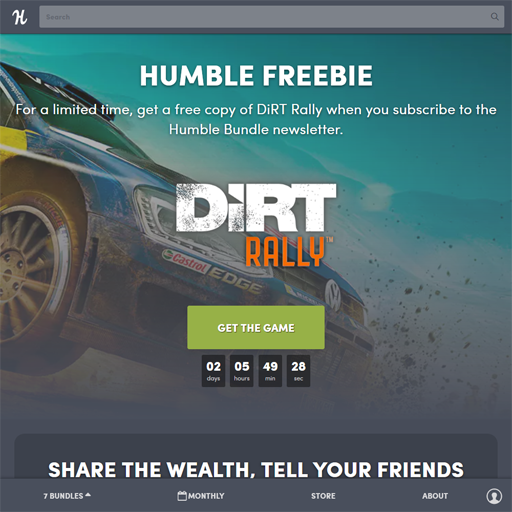 Humble Bundle で DiRT Rally 無料配布中